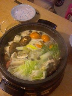 今日はお鍋。
